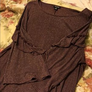 Dressy Sparkly Fitted Blouse
